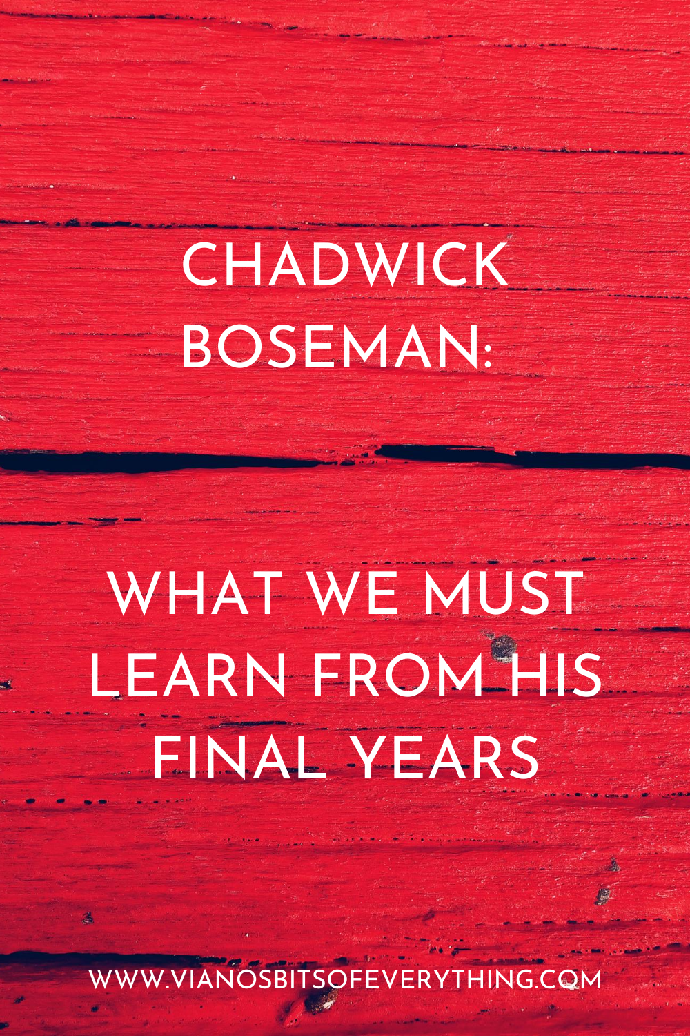 Chadwick Boseman: What We Must Learn From His Final Years